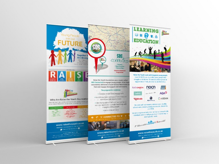 Raise the Youth Foundation: Pop-up Banners