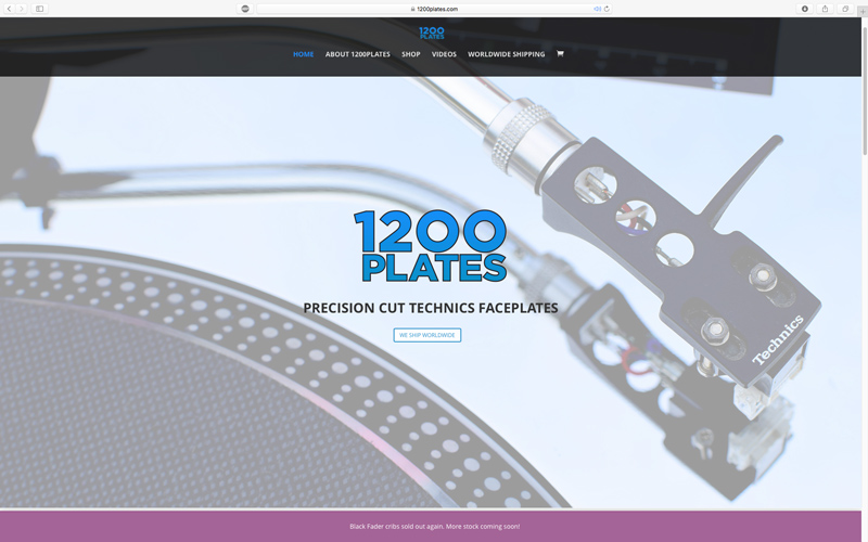 1200PLATES WooCommerce website