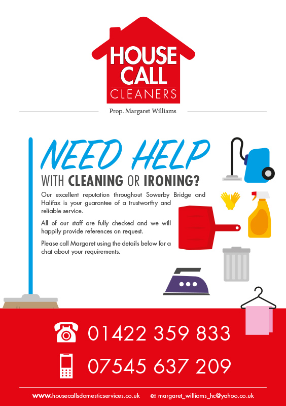 Cleaning company A5 flyer