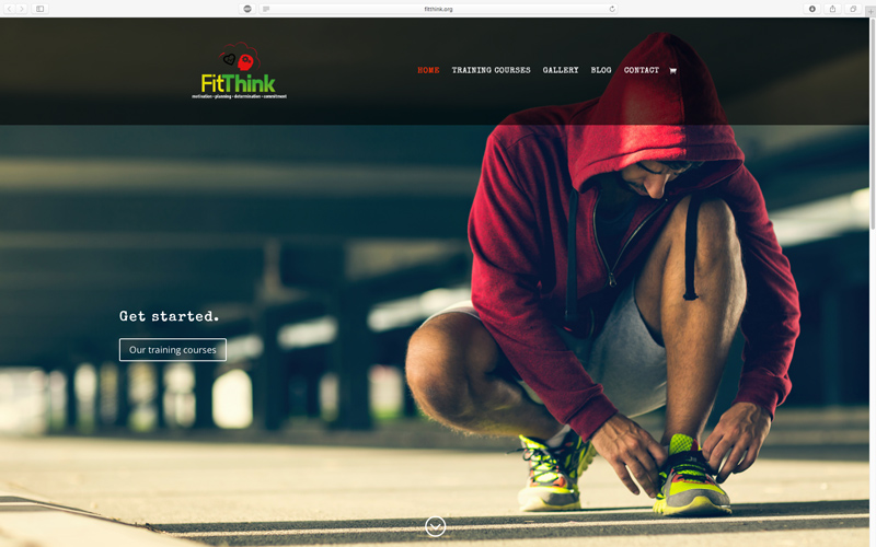 FitThink personal training courses website