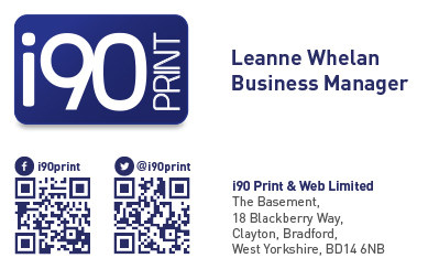 Print company business card