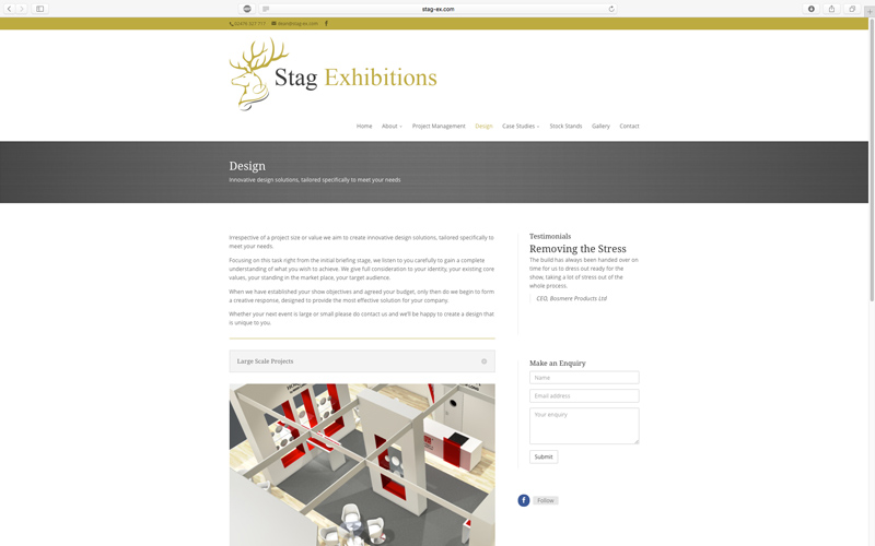 Stag Exhibitions conference stands website